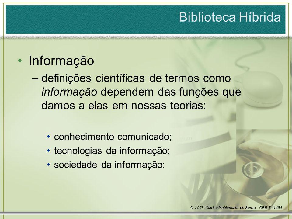 Biblioteca Híbrida Informação