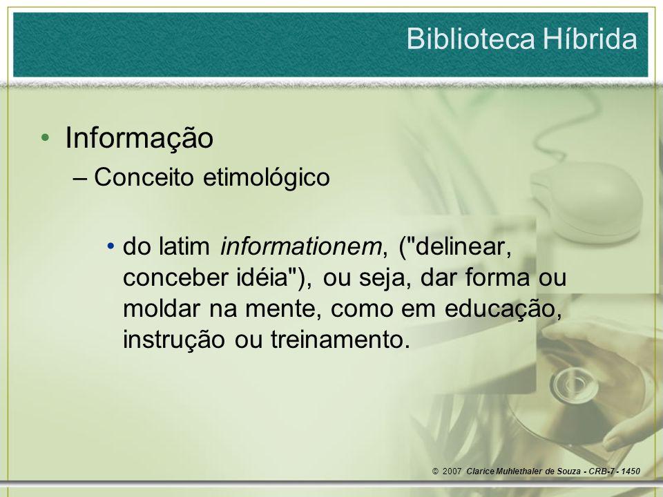 Biblioteca Híbrida Informação Conceito etimológico