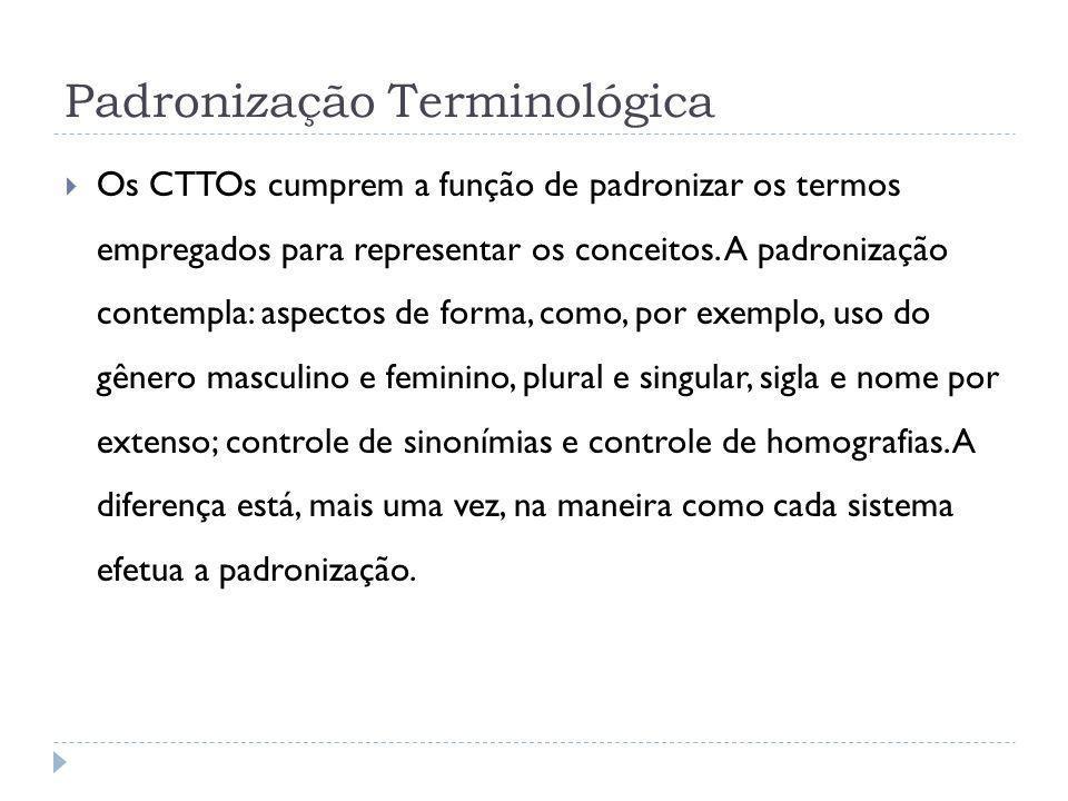 Padronização Terminológica