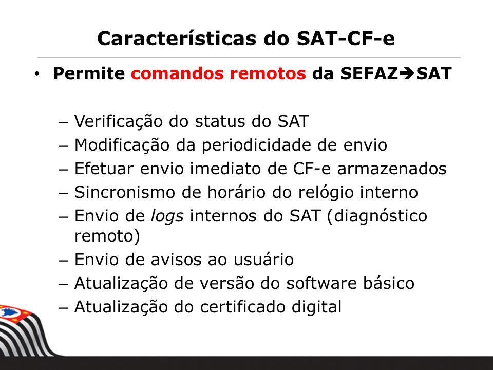 Características do SAT-CF-e