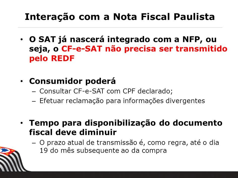 Interação com a Nota Fiscal Paulista