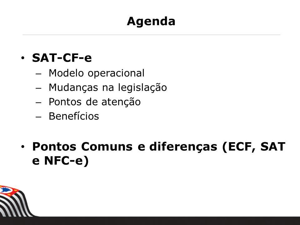 Pontos Comuns e diferenças (ECF, SAT e NFC-e)