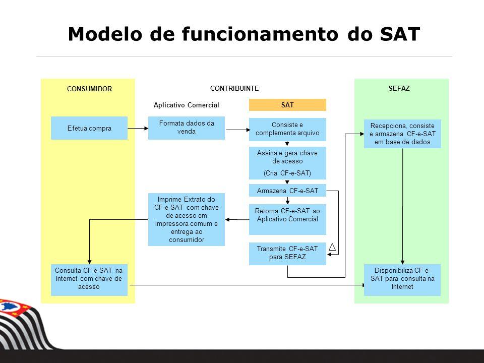 Modelo de funcionamento do SAT