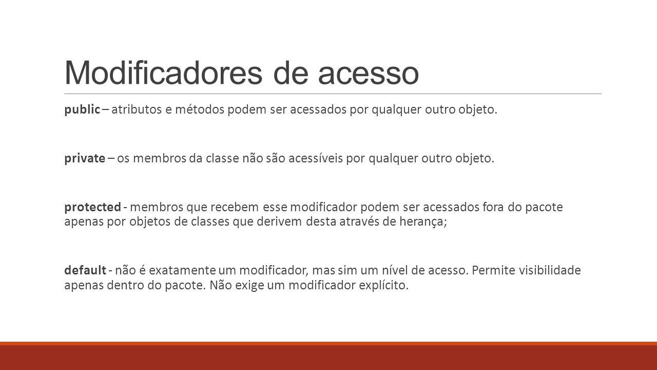 Modificadores de acesso