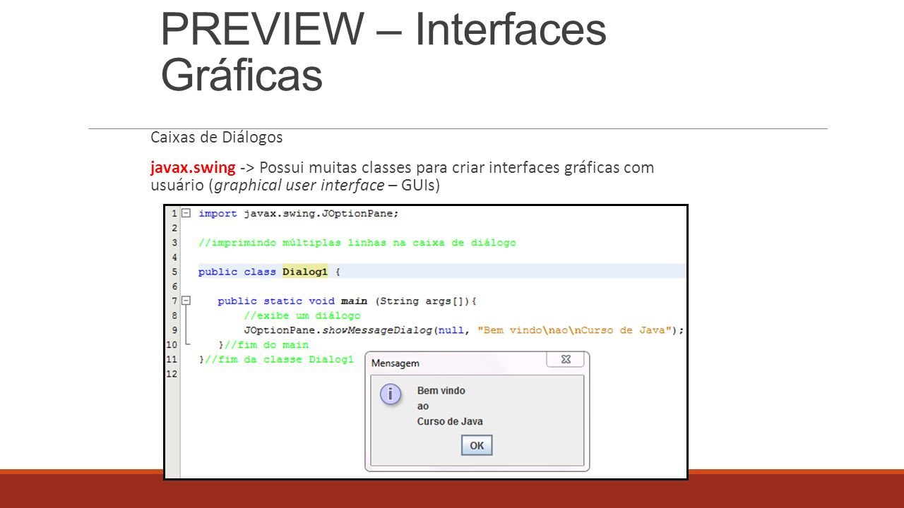 PREVIEW – Interfaces Gráficas