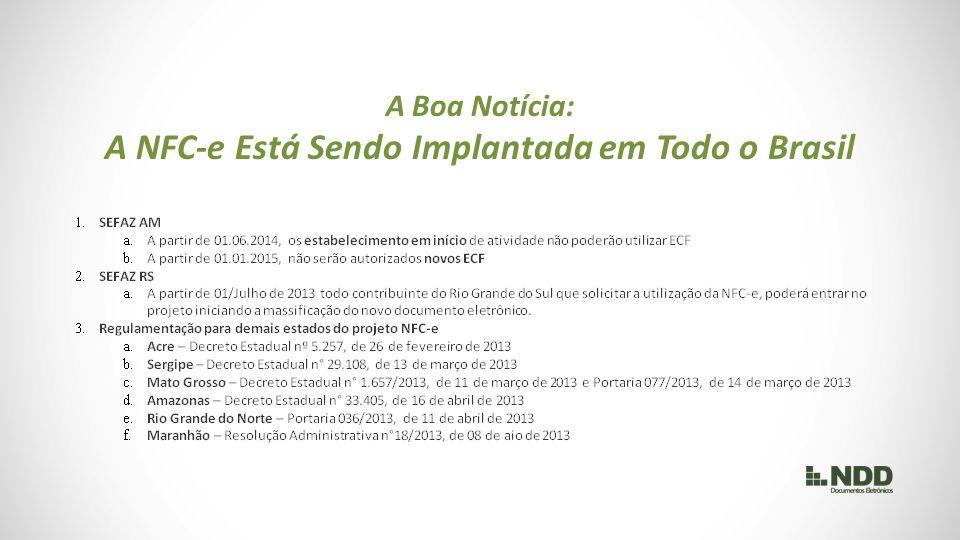 A NFC-e Está Sendo Implantada em Todo o Brasil