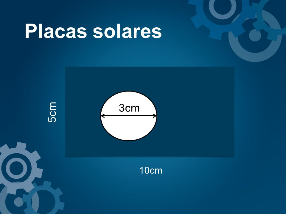 Placas solares 5cm 3cm 10cm