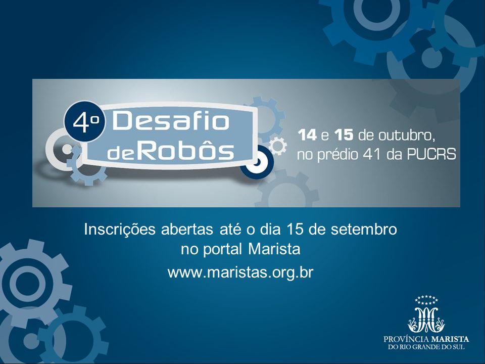 Inscrições abertas até o dia 15 de setembro no portal Marista