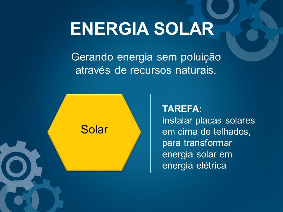 Gerando energia sem poluição através de recursos naturais.
