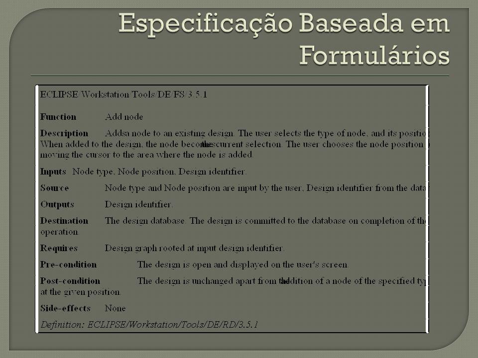 Especificação Baseada em Formulários