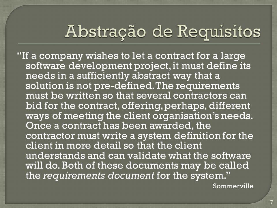 Abstração de Requisitos