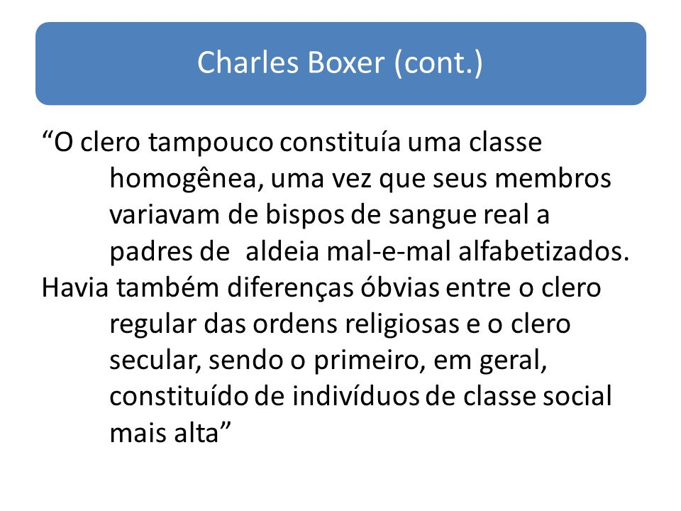 Charles Boxer (cont.)