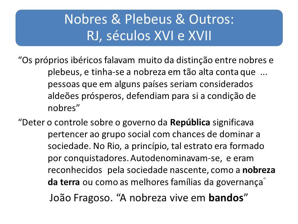 Nobres & Plebeus & Outros: RJ, séculos XVI e XVII