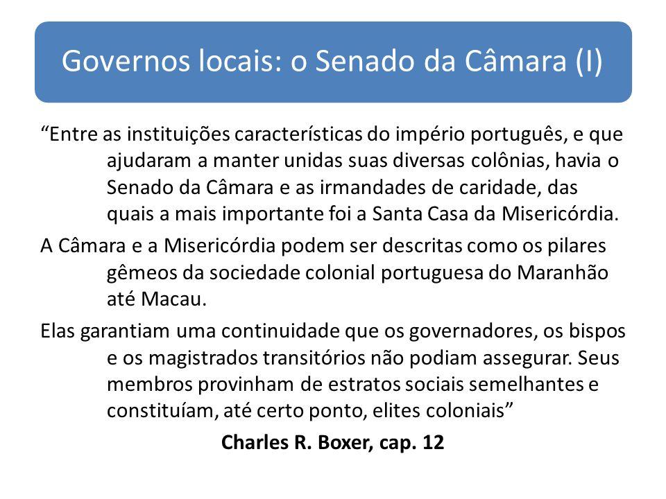 Governos locais: o Senado da Câmara (I)