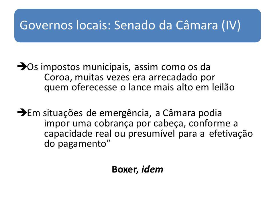 Governos locais: Senado da Câmara (IV)