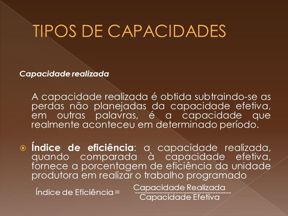 TIPOS DE CAPACIDADES Capacidade realizada.