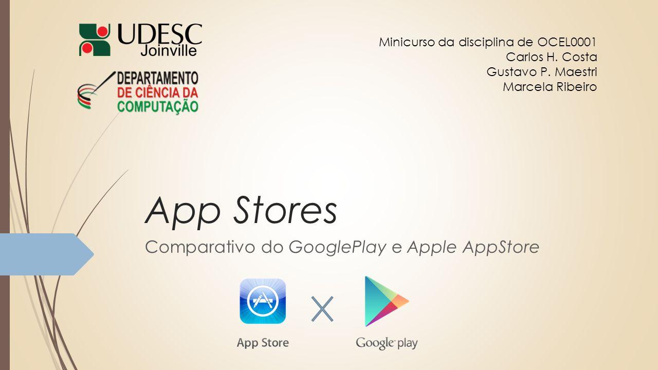 Comparativo do GooglePlay e Apple AppStore
