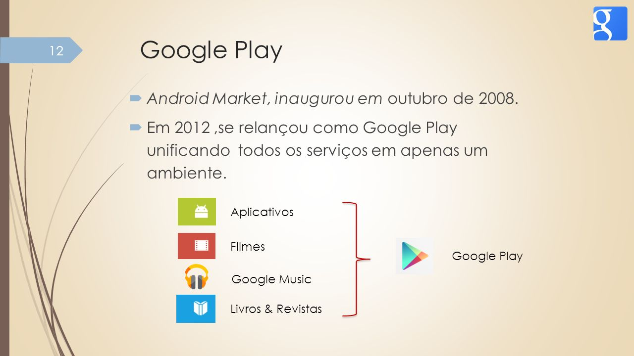 Google Play Android Market, inaugurou em outubro de 2008.