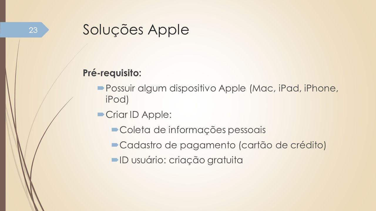 Soluções Apple Pré-requisito: