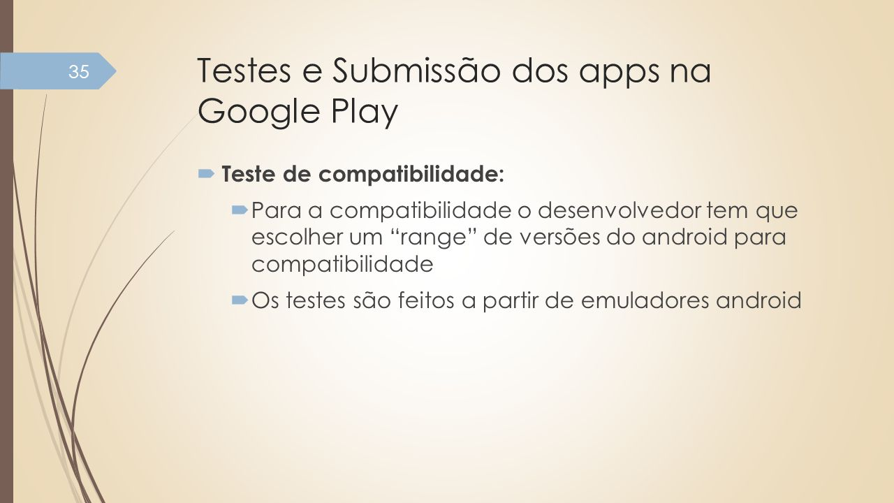 Testes e Submissão dos apps na Google Play
