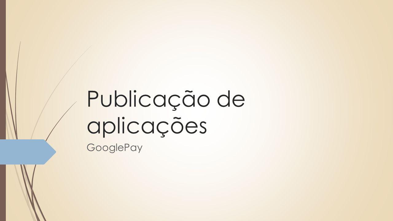 Publicação de aplicações