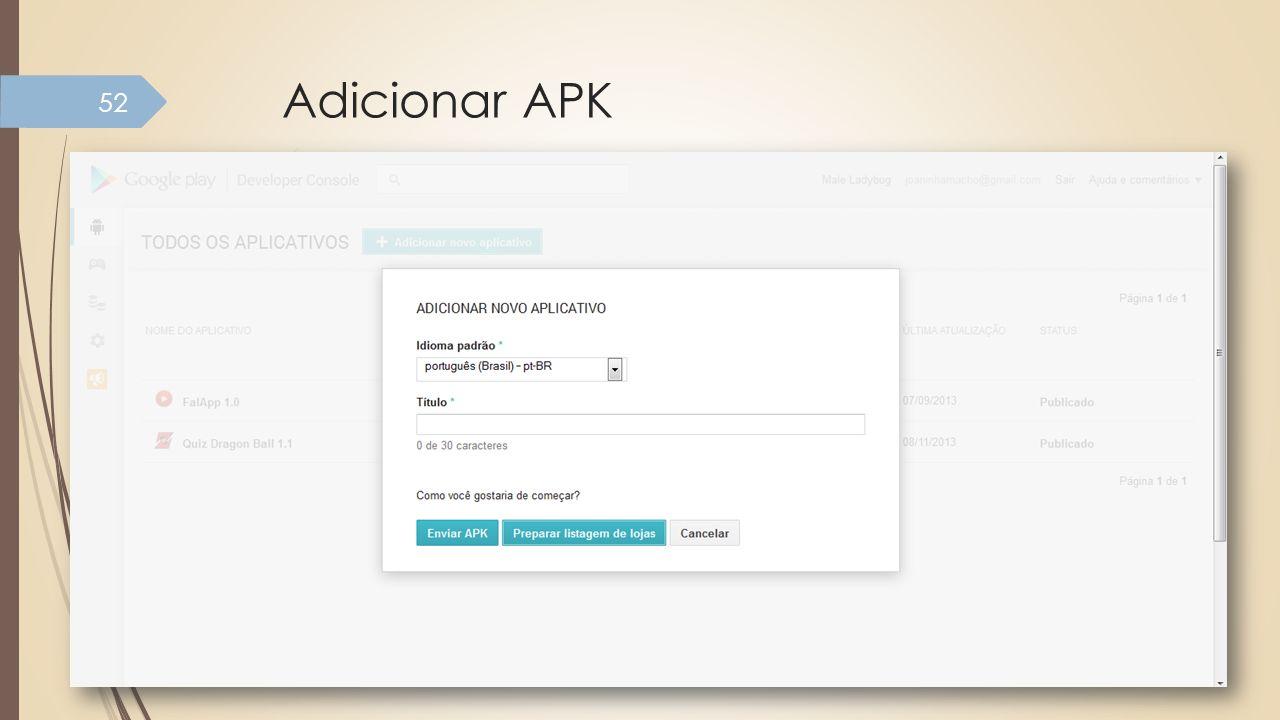 Adicionar APK