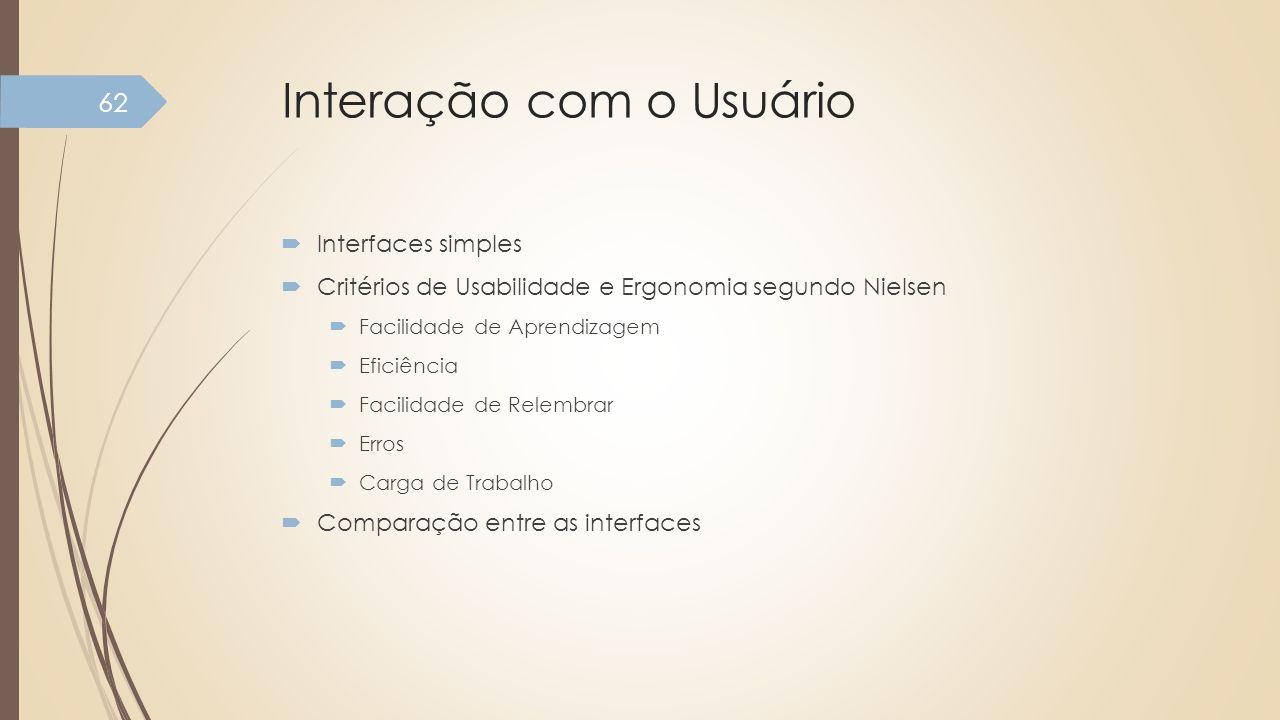 Interação com o Usuário