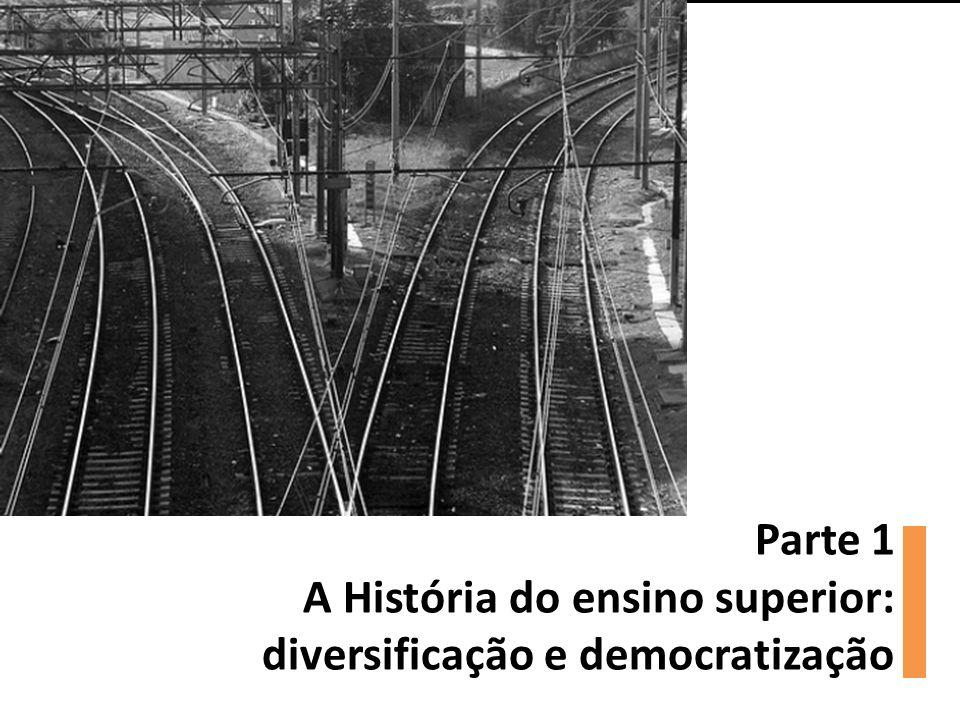 Parte 1 A História do ensino superior: diversificação e democratização