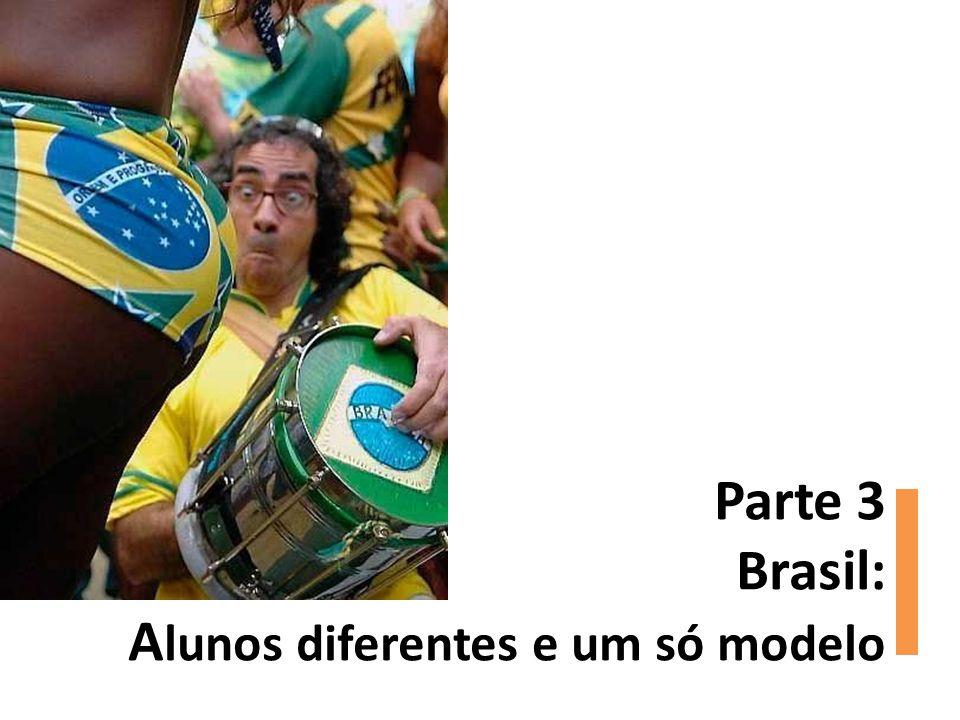 Parte 3 Brasil: Alunos diferentes e um só modelo