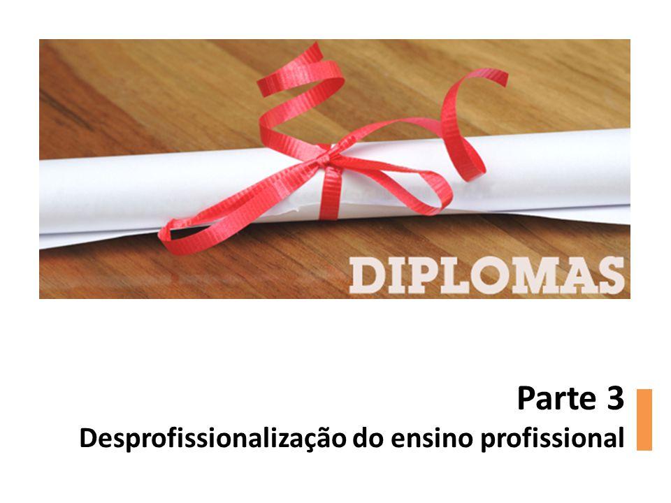 Parte 3 Desprofissionalização do ensino profissional