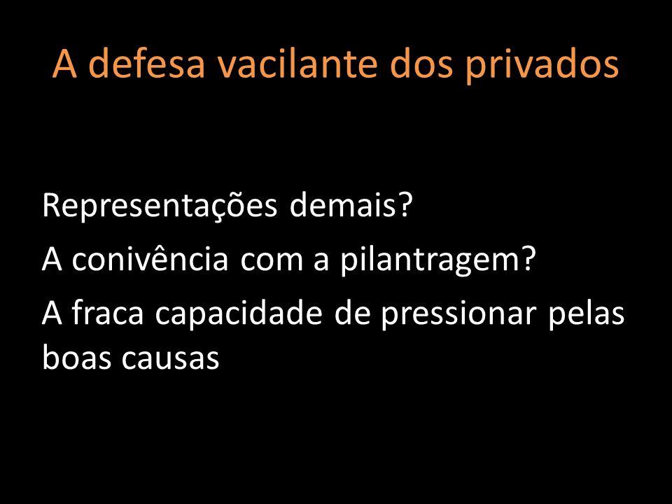 A defesa vacilante dos privados