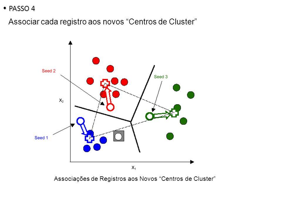 Associações de Registros aos Novos Centros de Cluster