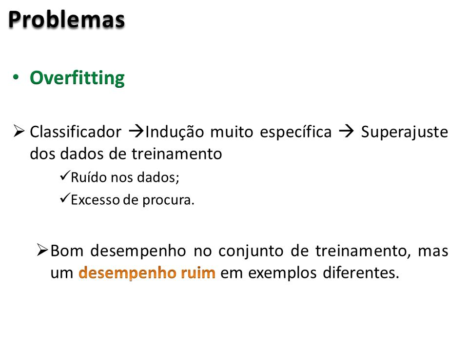 Problemas Overfitting