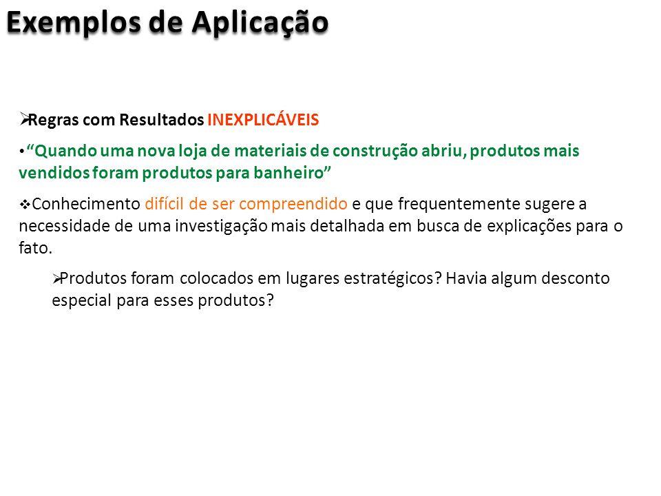 Exemplos de Aplicação Regras com Resultados INEXPLICÁVEIS