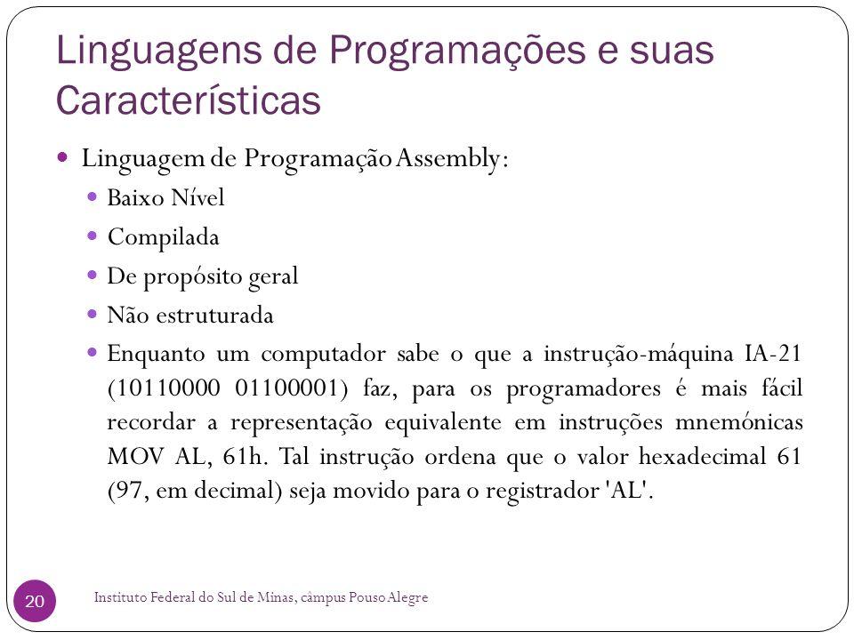 Linguagens de Programações e suas Características