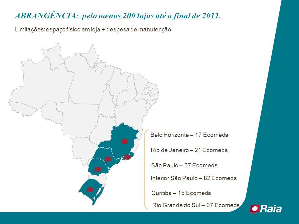 ABRANGÊNCIA: pelo menos 200 lojas até o final de 2011.