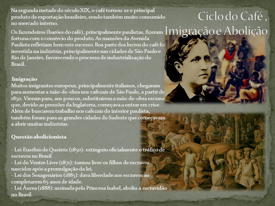 Ciclo do Café , Imigração e Abolição