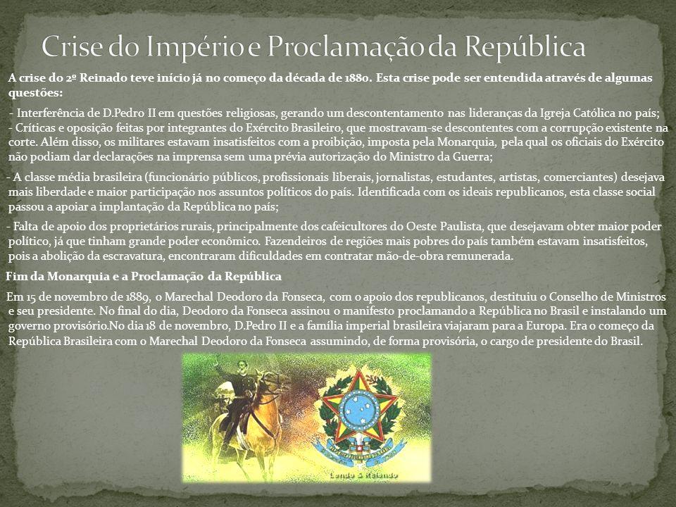 Crise do Império e Proclamação da República