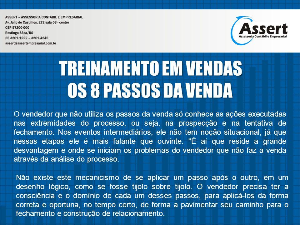 OS 8 PASSOS DA VENDA TREINAMENTO EM VENDAS