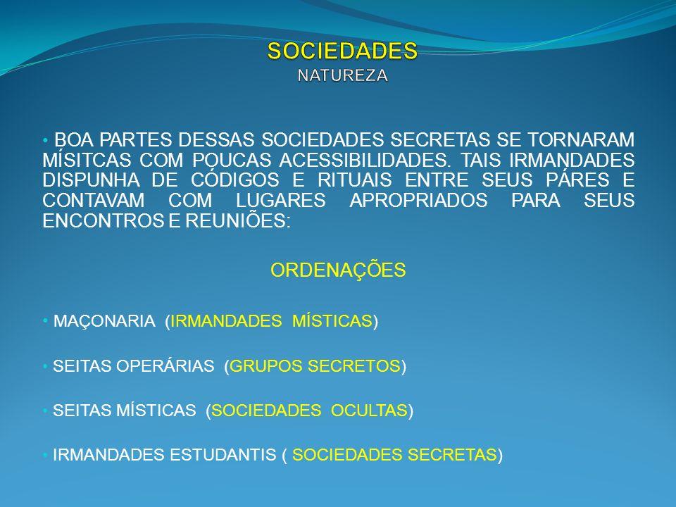SOCIEDADES NATUREZA