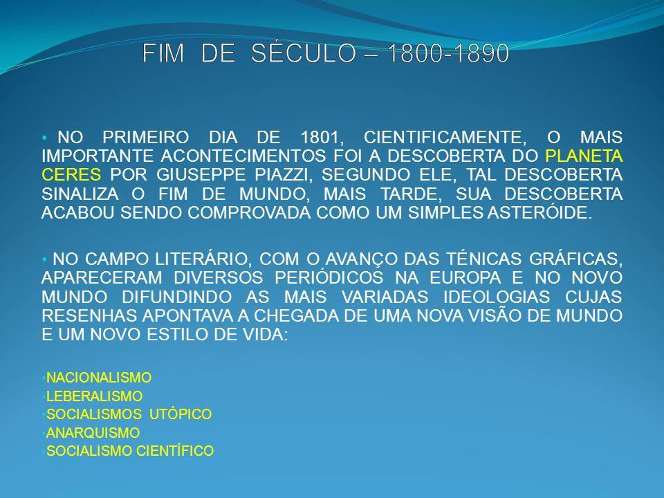 FIM DE SÉCULO – 1800-1890