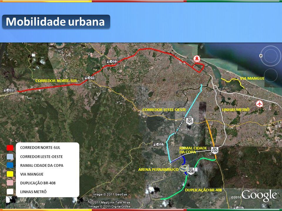 Mobilidade urbana VIA MANGUE CORREDOR NORTE-SUL CORREDOR LESTE-OESTE