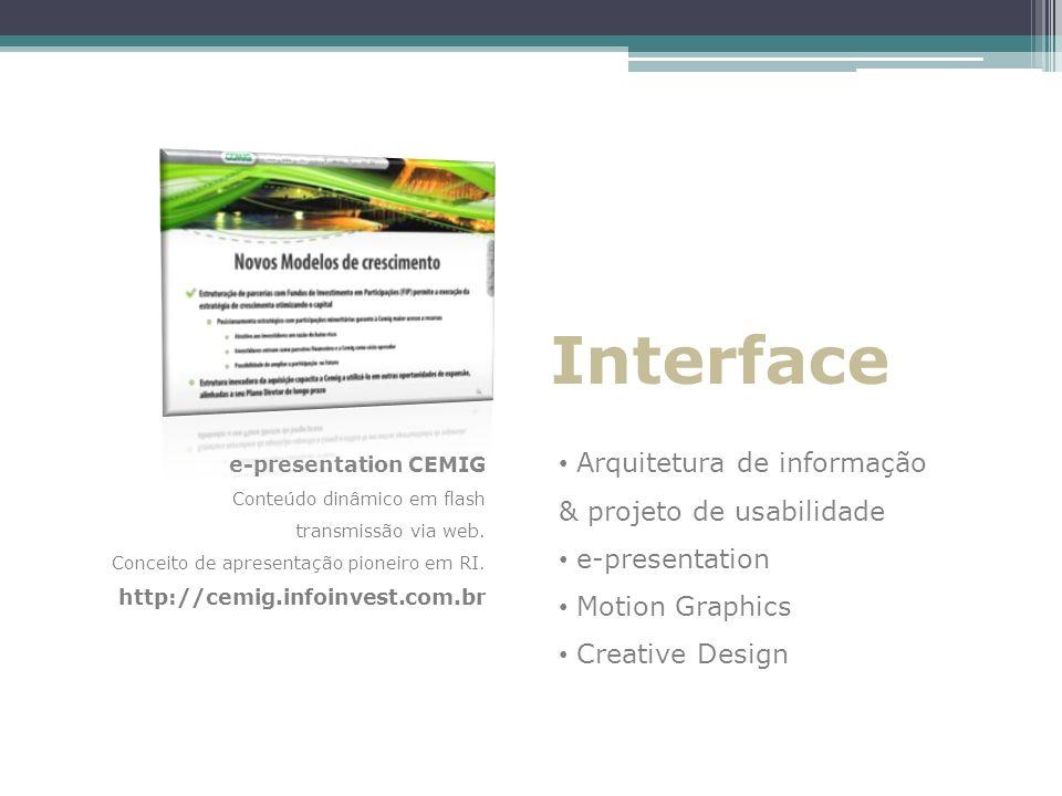 Interface Arquitetura de informação & projeto de usabilidade