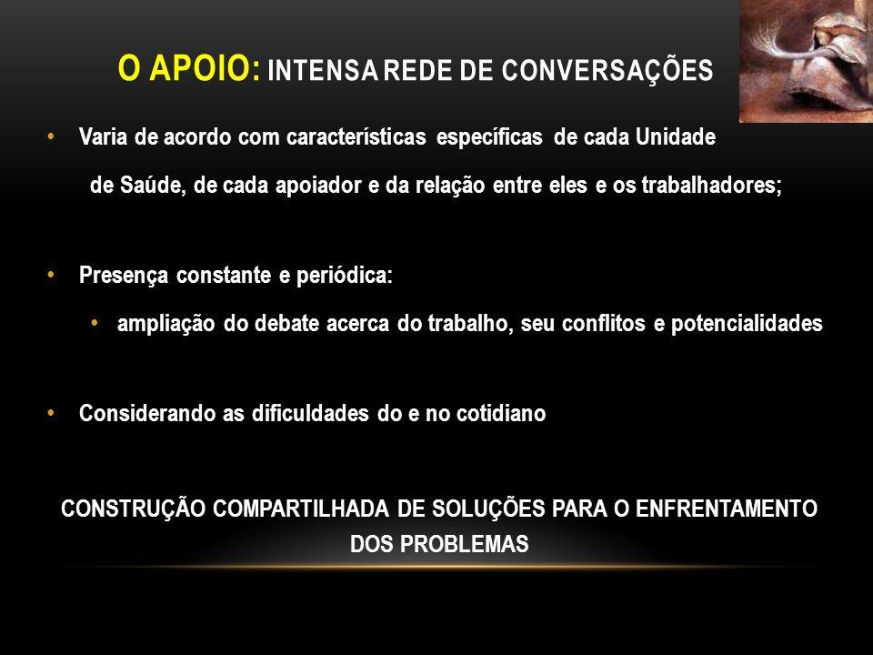O APOIO: Intensa rede de conversações