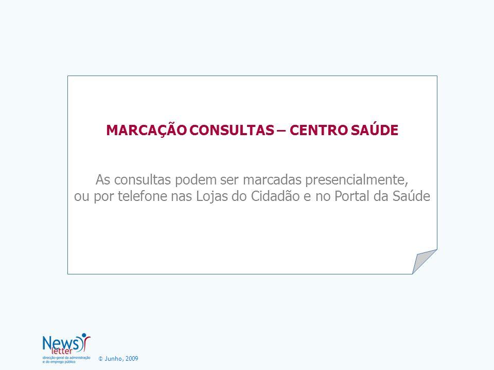 MARCAÇÃO CONSULTAS – CENTRO SAÚDE