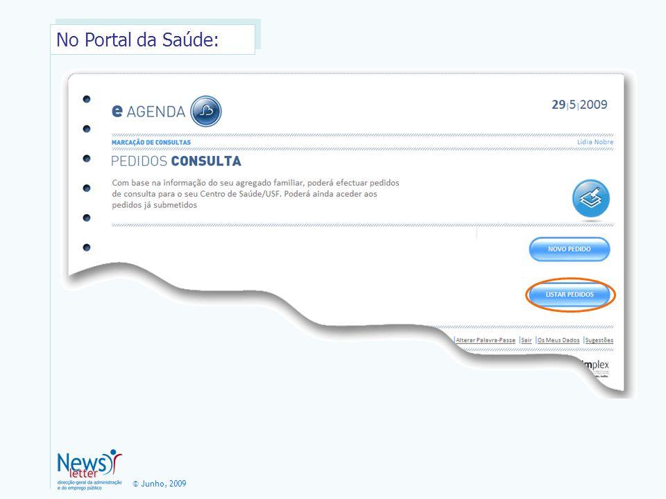 No Portal da Saúde: