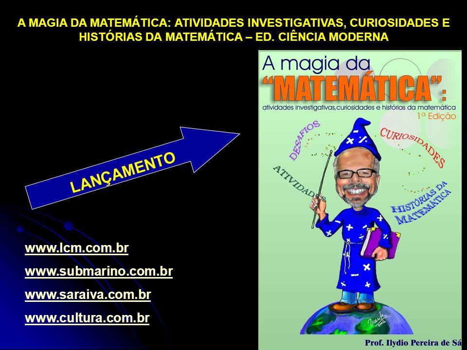LANÇAMENTO www.lcm.com.br www.submarino.com.br www.saraiva.com.br