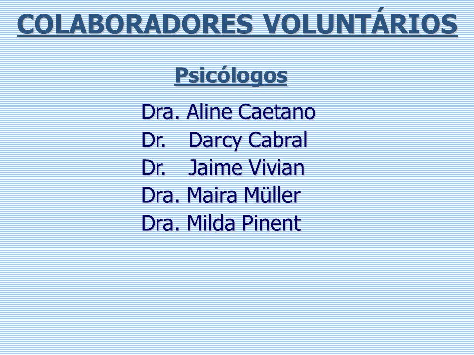 COLABORADORES VOLUNTÁRIOS