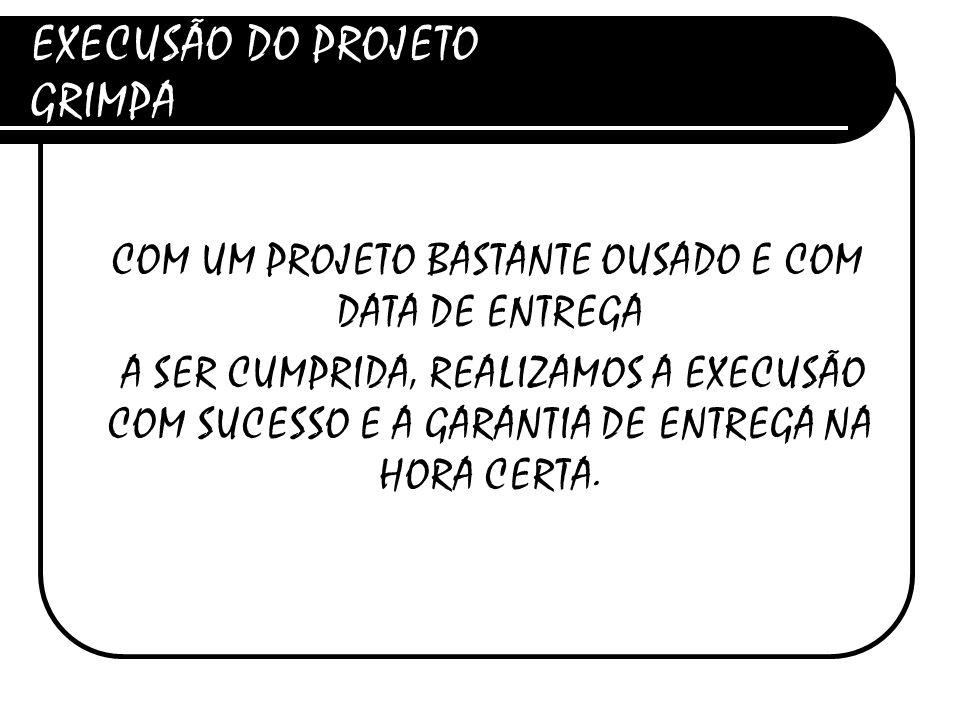 EXECUSÃO DO PROJETO GRIMPA