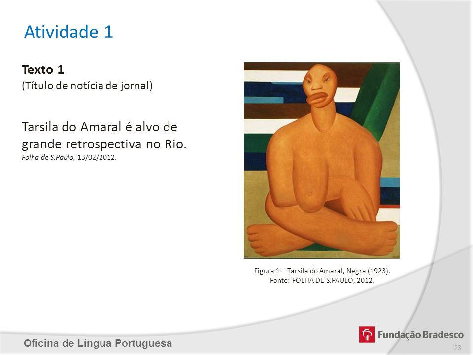 Figura 1 – Tarsila do Amaral, Negra (1923).